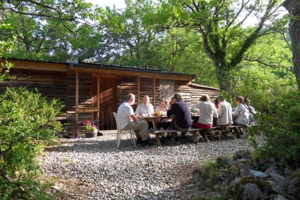 terrasse, plancha, convivialité, table d'hôte
